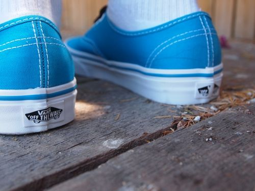 Vans shoes in aqua
